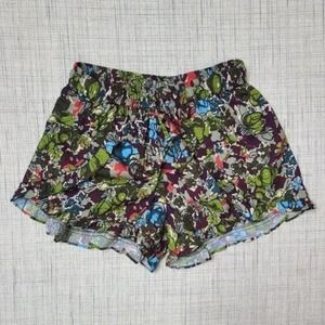 5/$25 On The Road Lounge Shorts Ruffle Floral S